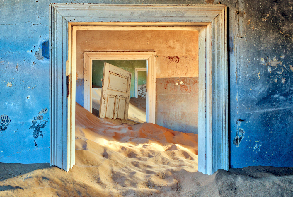 One of the sand-covered houses in Kolmanskop. Source: Getty