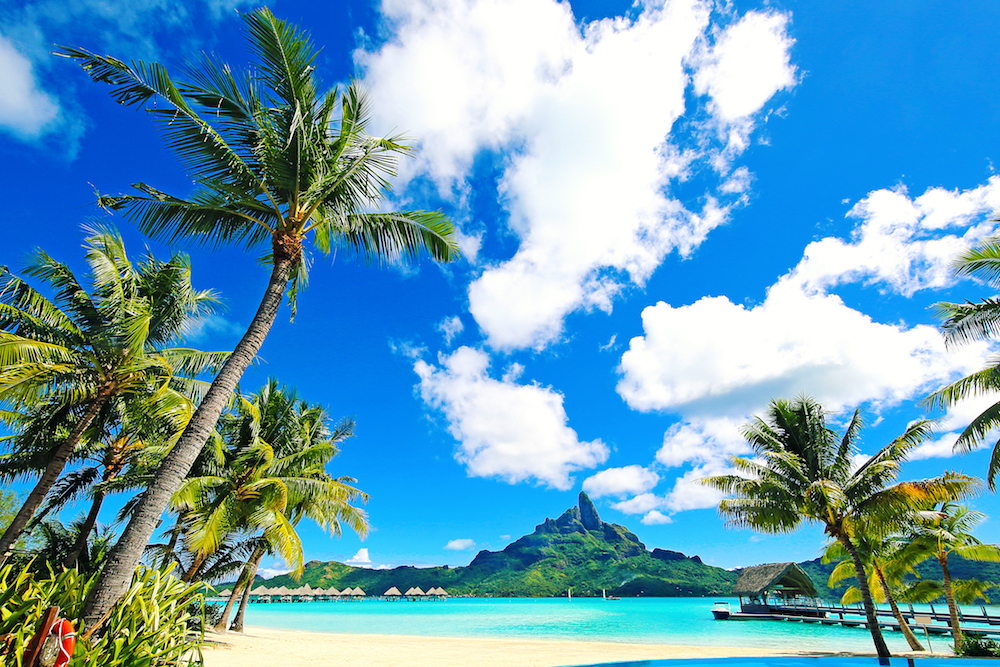 Bora Bora in French Polynesia. Source: Getty