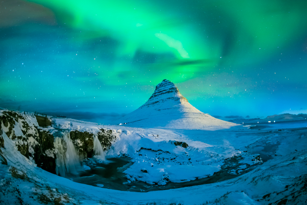Kirkjufell in Iceland. Source: Getty