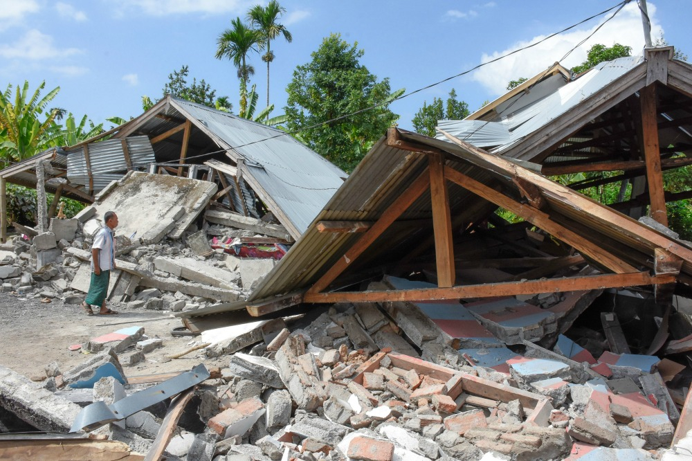 Thousands of homes have been reduced to rubble following the earthquake. Source: Getty.