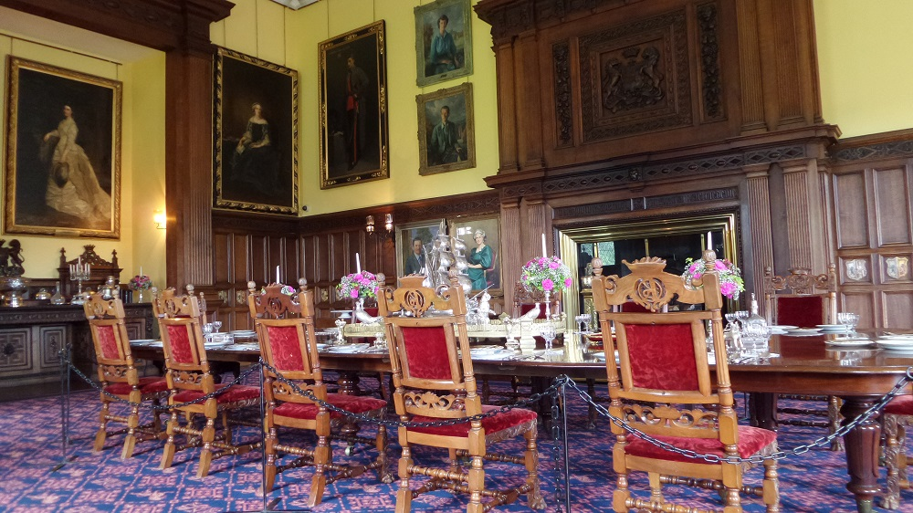 The stunning main dining room on the ground level of the castle. Source: Neil McLean