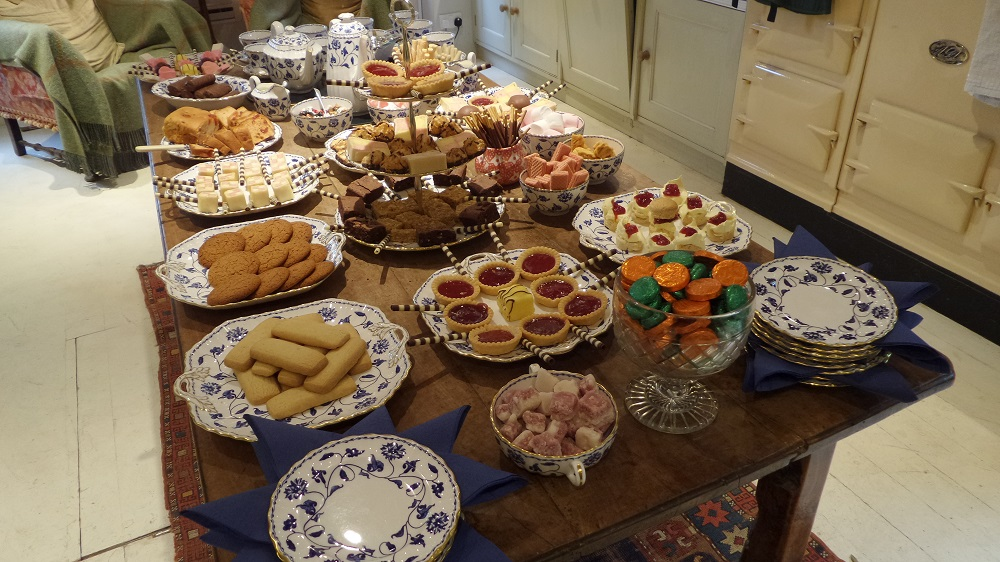 The yummy selection of food on offer at the Secret Cottage in the Cotswolds. Source: Village to Villa