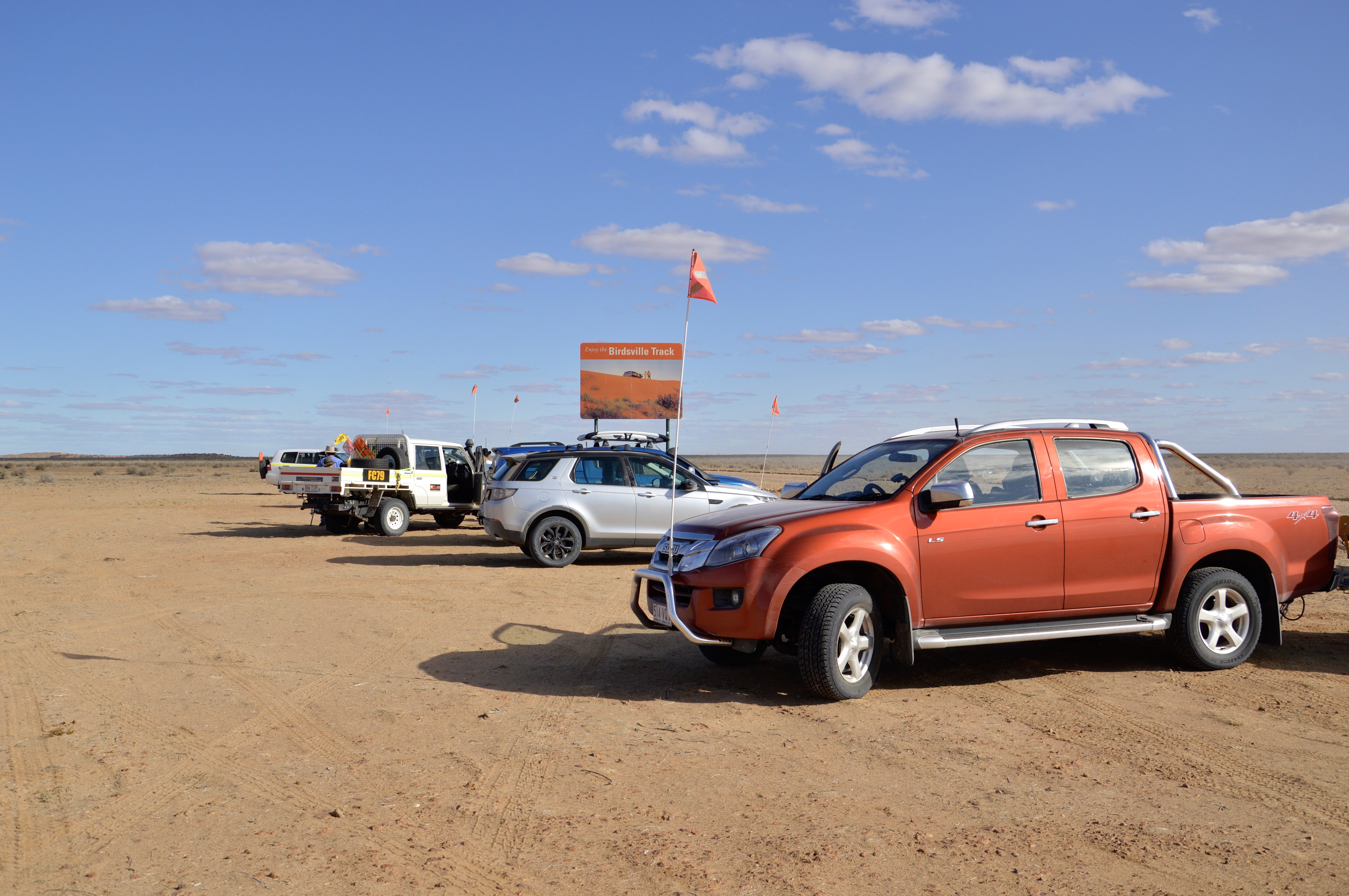 We've reached the Birdsville Track! Source: Great Australian Doorstep